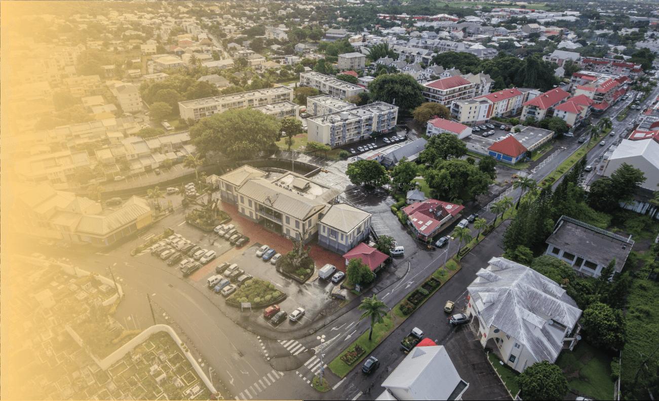 Photo aérienne de la mairie de Saint-André