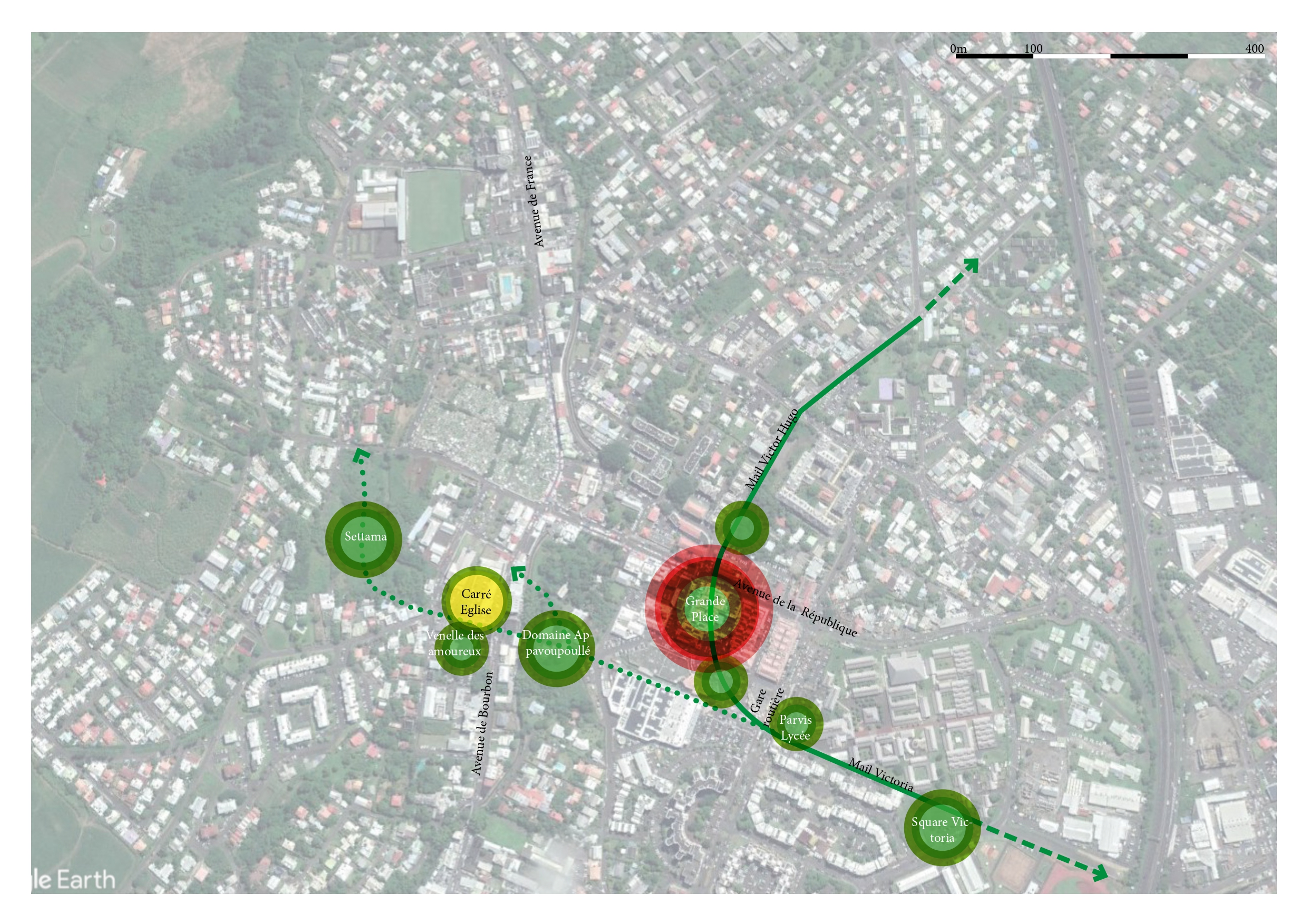 Plan des aménagements de la rue Victor Hugo