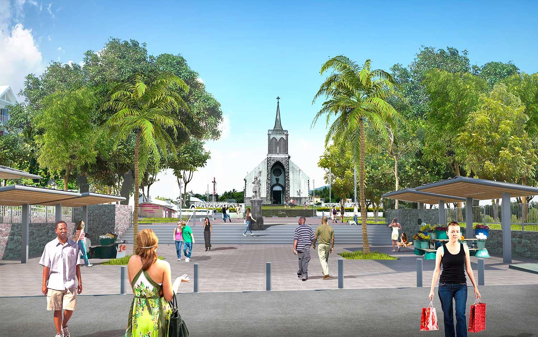 Photo 3D de la Place Jeanne d'Arc à Saint André