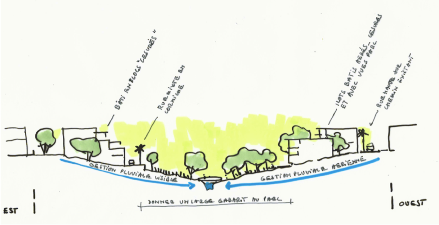 Croquis du terrain naturel de la ville de Saint-André
