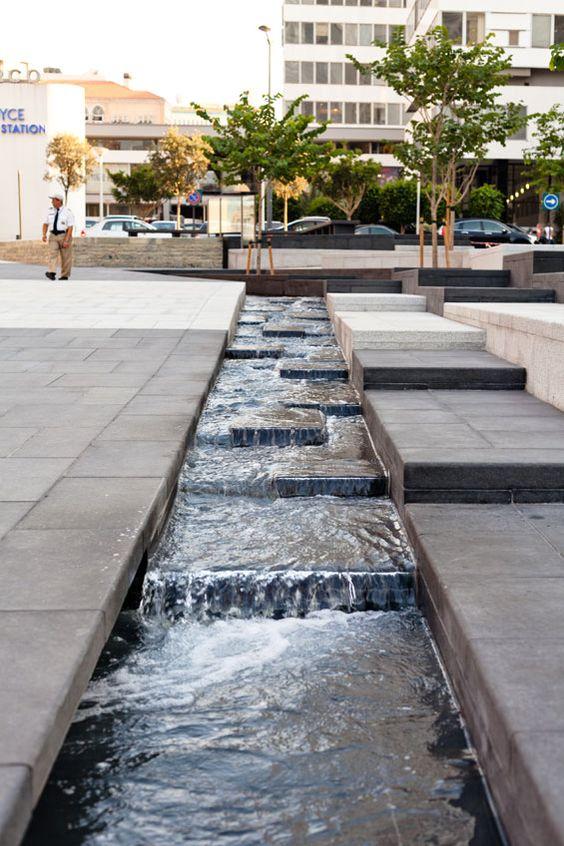 Photo d'un cours d'eau dans un centre ville